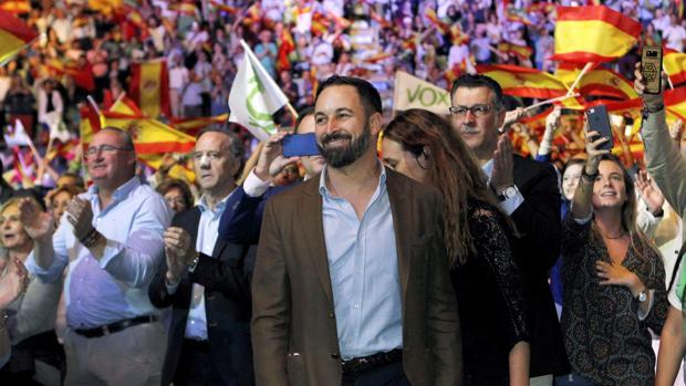 Imagen del acto celebrado por Vox el pasado 7 de octubre en Madrid