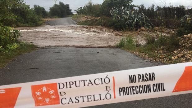 Imagen del barranco de Cabanes en el que ha sido rescatado un conductor