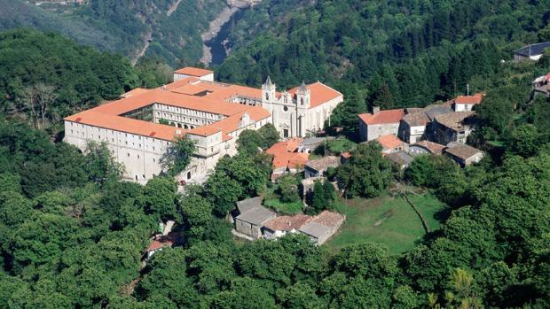 Vista del parador orensano, ubicado en plena Ribeira Sacra