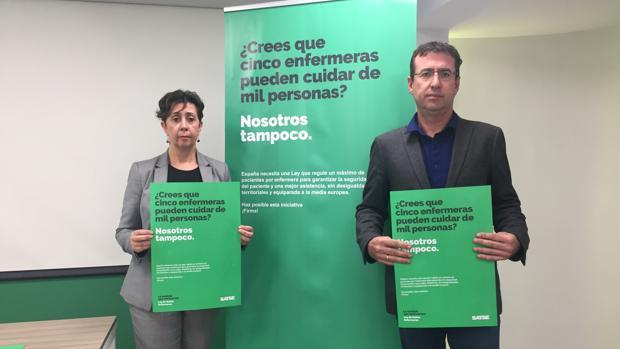 Gema Torrejón y Juan Francisco Ruiz, del sindicato Satse