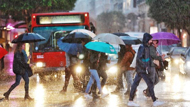 Imagen de las lluvias intensas en Valencia esta semana