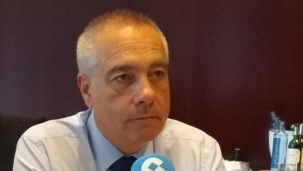Pere Navarro, duante su entrevista