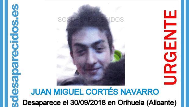 Imagen difundida en redes sociales del desaparecido