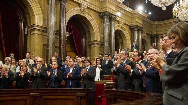 Un instante del pleno en el que se votó la declaración