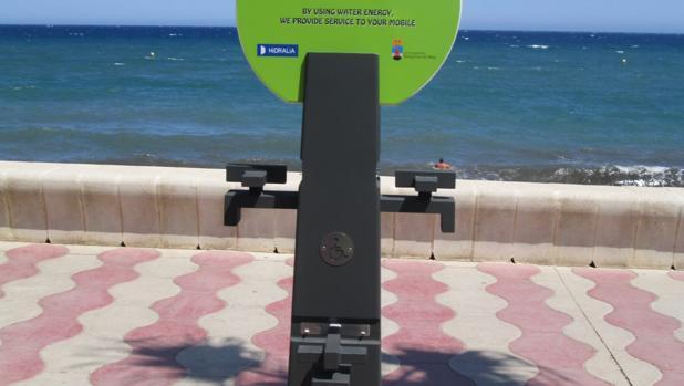 Dispositivo de recargar con agua