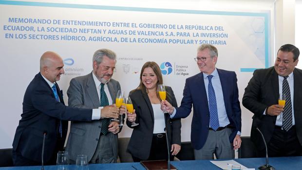 Brindis tras la firma del Memorando entre la República de Ecuador y Global Omnium