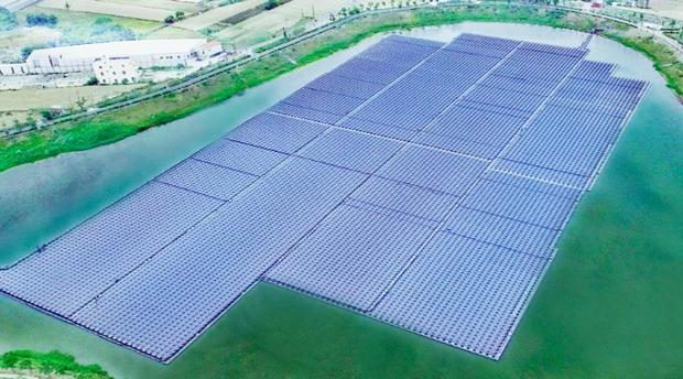 Planta fotovoltaica flotante de Huawei de 4MW en Taiwán