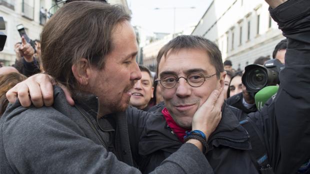 Pablo Iglesias y Juan Carlos Monedero, en una imagen de archivo