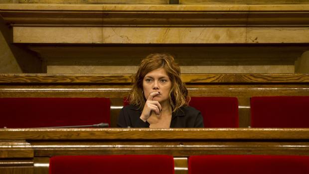 Alamany, ayer en el Parlament