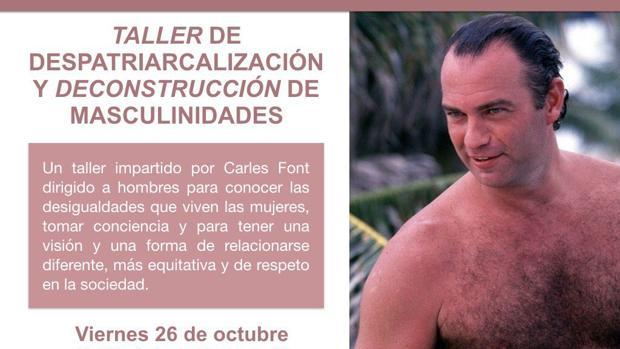Imagen del cartel difundido por Podemos
