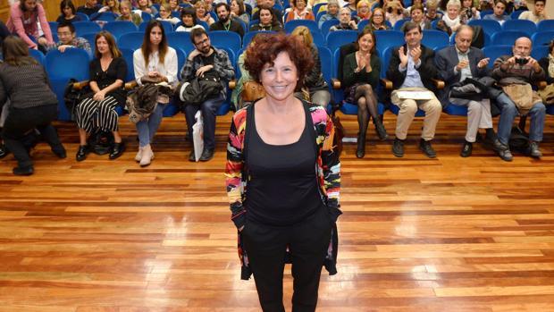 Iciar Bollaín, minutos antes de comenzar su clase magistral en la Universidad de Valladolid