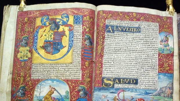 Códice iluminado español del s. XVI con dos Cartas Ejecutorias de los descendientes de Juan Rejón