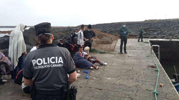 Servicio de la Policía Canaria y Guardia Civil en Lanzarote
