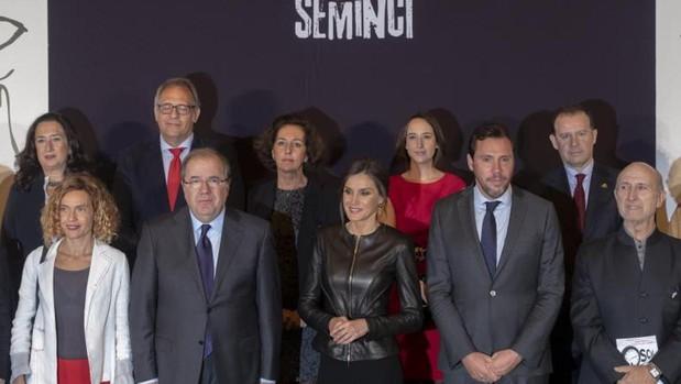 La Reina, entre el presidente de la Junta y el alcalde de Valladolid