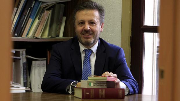 Ángel Cervantes, el pasado viernes en la redacción de ABC en Toledo
