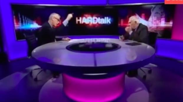 Momento de la entrevista de Maragall en la BBC