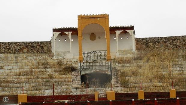 Imagen del coso de Quintanar, totalmente abandonado