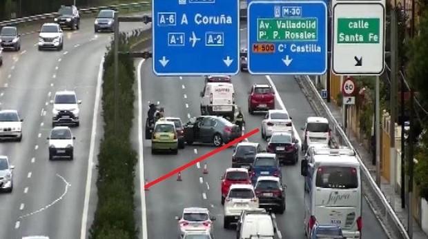 Accidente que ha tenido lugar en la zona del puente de los Franceses