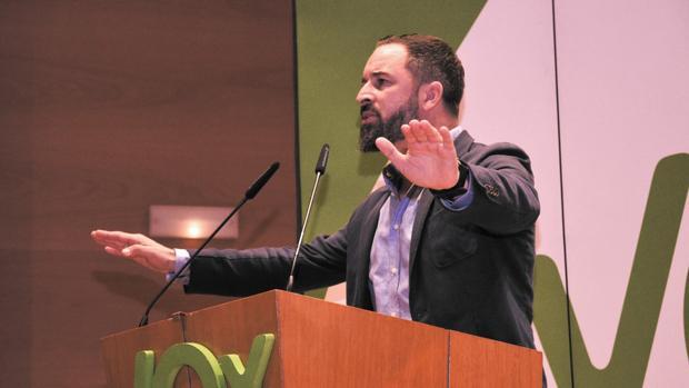 Acto de VOX en el Palacio Euskalduna (Bilbao) con el presidente del partido, Santiago Abascal