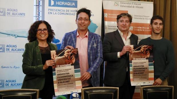 Padilla, Gullian, Sanz y Cortés, en la presentación del concierto