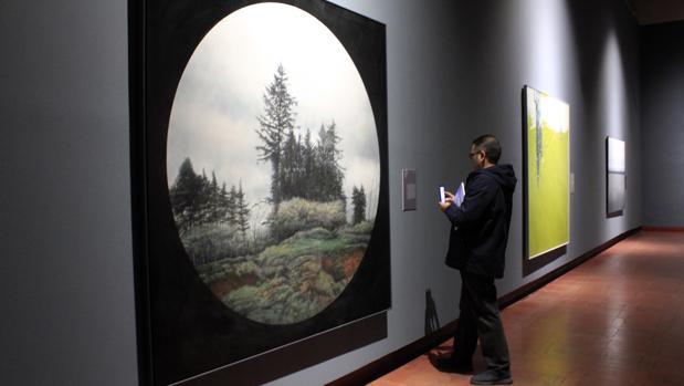 Una de las obras expuestas en la muestra «Cielo-Tierra»