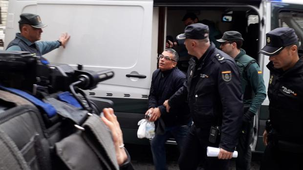 Luis Carlos, este miércoles, a su llegada a la Audiencia de Toledo
