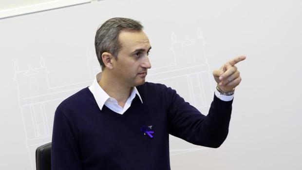 El presidente de la Diputación, César Sánchez, este miércoles en el Palacio Provincial