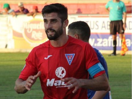 Marcos Moreno en un partido con La Roda