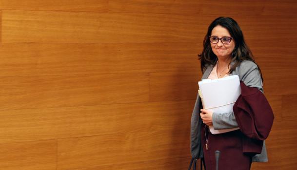 Imagen de Mónica Oltra tomada este martes en las Cortes Valencianas