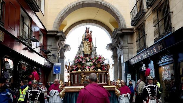 Procesión de la Virgen de La Almudena