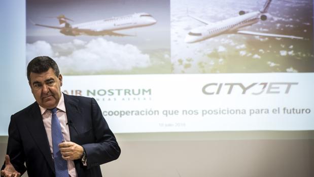 Imagen de archivo del consejero delegado de Air Nostrum, Carlos Bertomeu