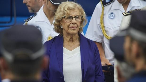 Manuela Carmena, durante la celebración del día de la Policía Municipal