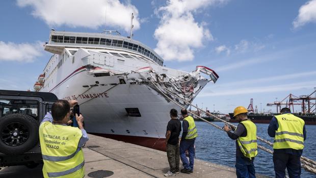 Imagen de archivo de un ferry de la misma empresa que sufrió un accidente el pasado 2017