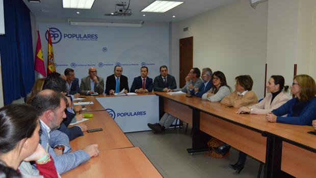 El Comité de Dirección Provincial durante la reunión celebrada este jueves