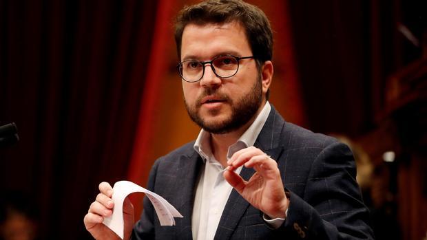 El vicepresidente catalán, Pere Aragonès, en el Parlament