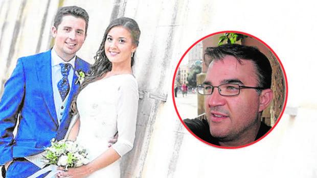 Maje, el día de su boda con Antonio Navarro. A la derecha, Salva R. presunto autor del crimen