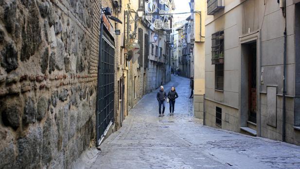 Calle Alfileritos de Toledo, donde se inició la discusión