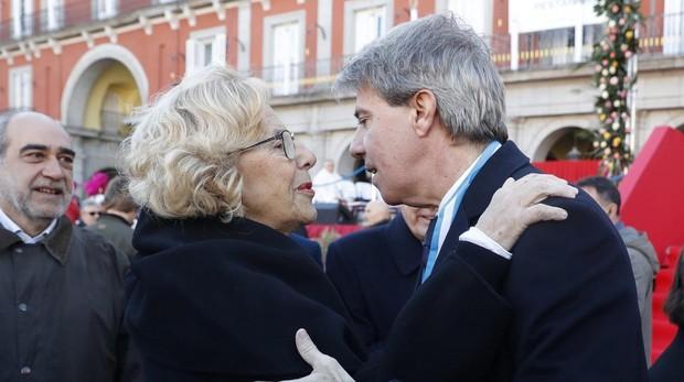 Manuela Carmena y Ángel Garrido