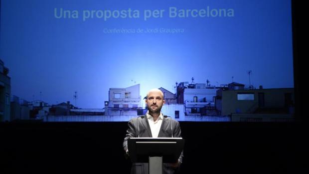 Graupera, durante la conferencia en la que presentó su proyecto para Barcelona