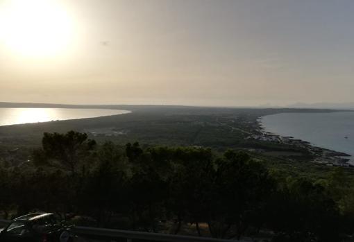 Vista panorámica de la isla de Formentera