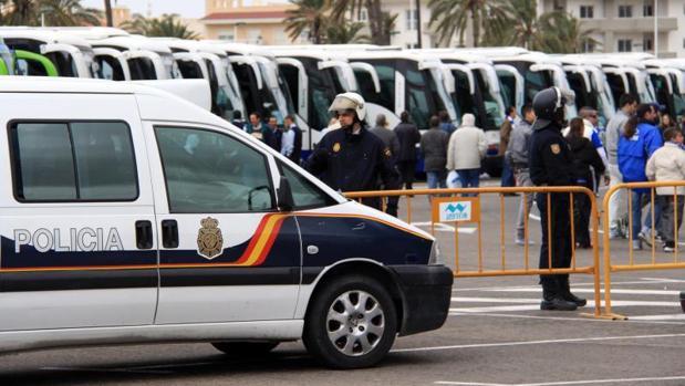 Efectivos de la Policía Nacional en Elche
