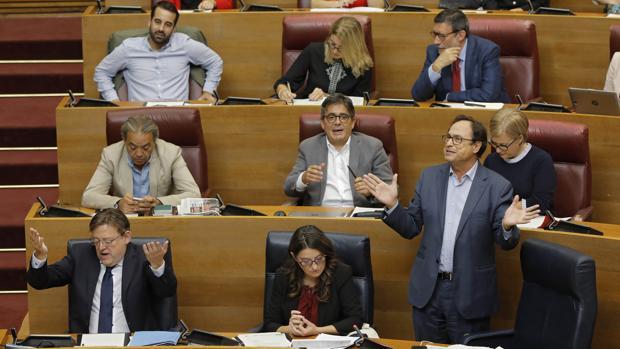 Bancada del PSPV en las Cortes Valencianas