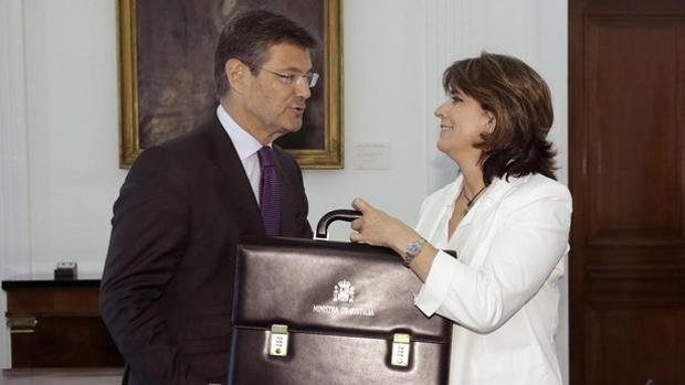 La ministra Dolores Delgado y su antecesor, Rafael Catalá, encargados de la negociación para renovar el CGPJ