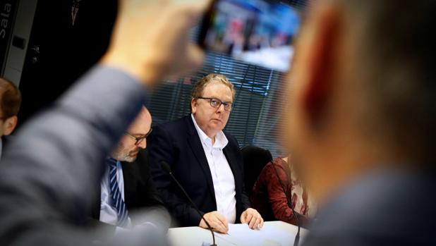 José Manuel Valiño, director IT de Abanca durante la rueda de prensa