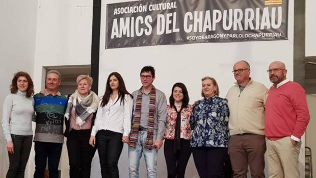 Miembros de la asociación de defensa del chapurriau, durante la presentación oficial de esta plataforma, a principios de este año
