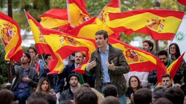 Pablo Casado, en un acto en Sevilla, el pasado 4 de noviembre