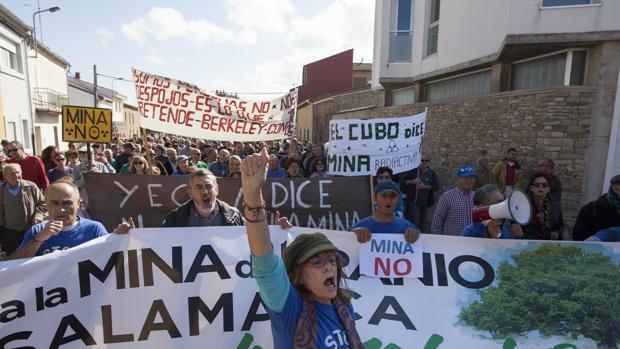 Protesta contra la mina de uranio en Retortillo, en una imagen de archivo