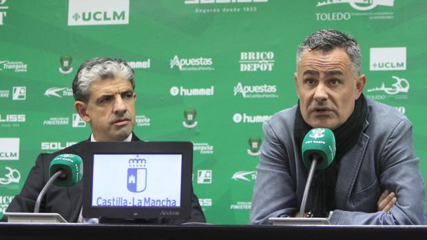 Manu Calleja, con el presidente Juan Juárez