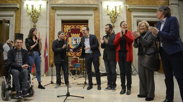 Pablo Soto, Rita Maestre, Jorge García Castaño, José Manuel Calvo, Nacho Murgui, Esther Gómez, Manuela Carmena y Marta Higueras