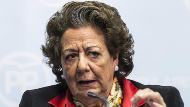 Rita Barberá, en una rueda de prensa